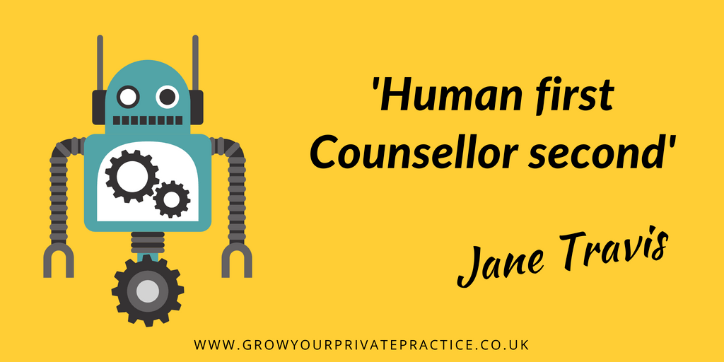 Human first, counsellor second: Stop putting pressure on yourself to be perfect!