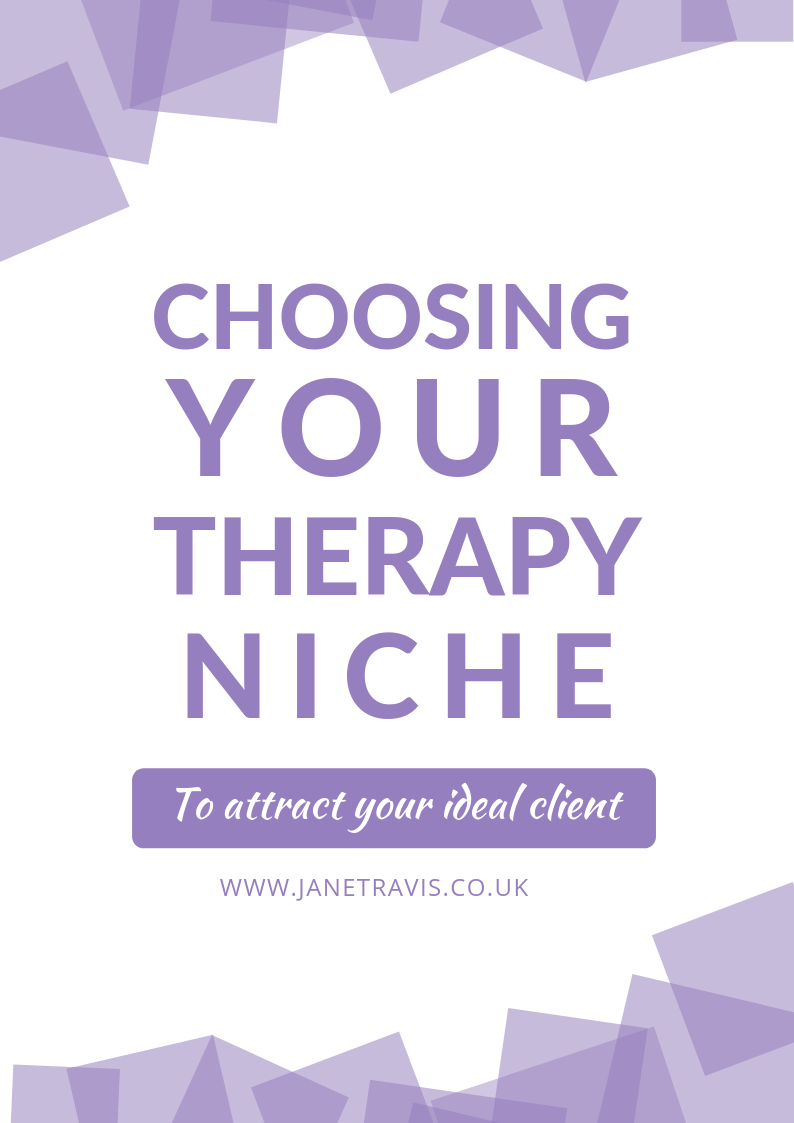 Choosing your therapy niche: FREE guide for therapists in private practice