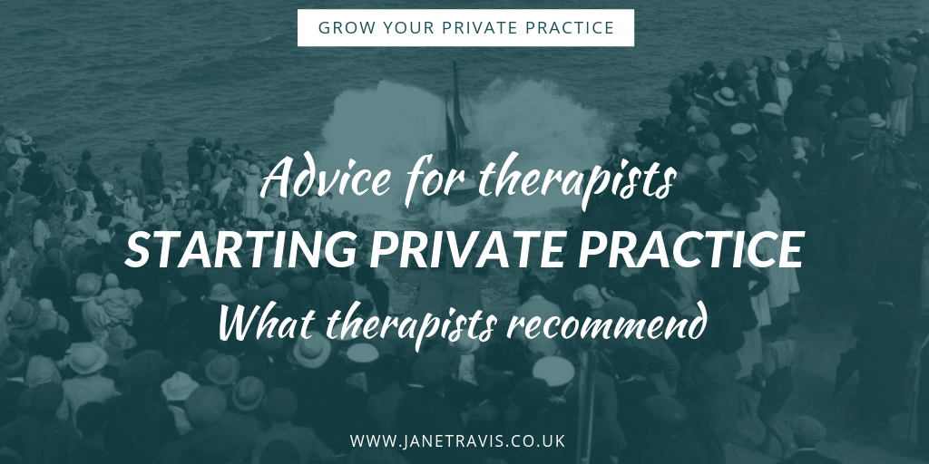Advice for therapists starting private practice - Jane Travis - Grow Your Private Practice
