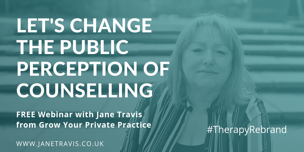 Therapy Rebrand Jane Travis, Let's change the public perception of counselling