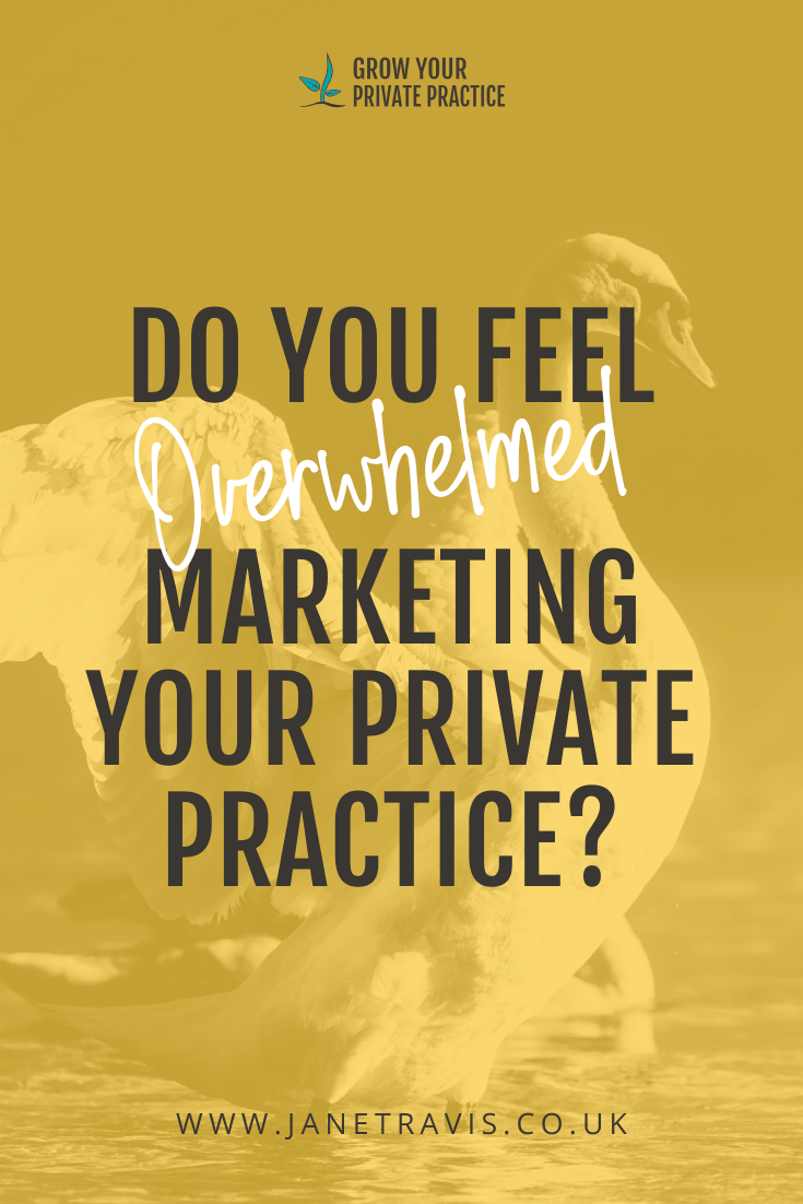 Do you feel overwhelmed marketing your private practice_ Jane Travis - Grow Your Private Practice