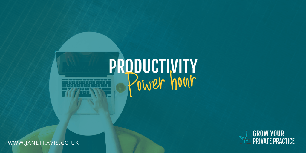Productivity Power Hours, motivation for counsellors during COVID 19